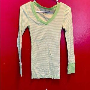 aeropostale green striped shirt